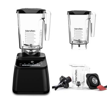 Blendtec Designer 650 Blender with WildSide+ and Twister Jar - Black
