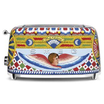 SMEG Dolce & Gabbana Sicily is My Love 4-Slice Toaster