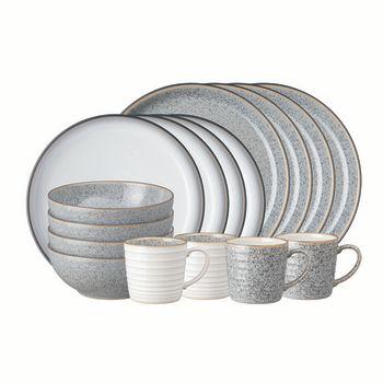 Denby Studio Grey 16-Piece Dinnerware Set