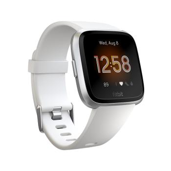 Fitbit Versa Lite Watch - White/Silver Aluminum