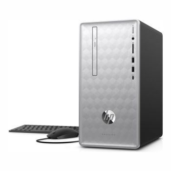 HP Pavilion  595-P1009 Desktop PC with  HP 2-Year Pickup and Return Desktop Service - (Monitor Not Included)