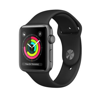 AppleWatch Series 3 Space Grey Aluminium Case with Black Sport Band - 42mm - GPS
