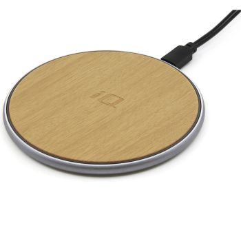 IQ Wireless Qi Charging Pad with Micro-USB Cable - Wood