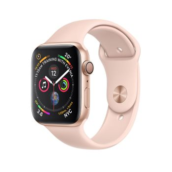 AppleWatch Series4 Gold Aluminium Case with Pink Sand Sport Band - 44mm - GPS