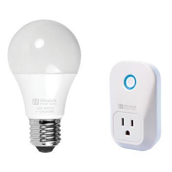 UltraLink® Smart Home Wi-Fi Plug and Wi-Fi Bulb Bundle