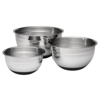 Lagostina® Ambiente 3-Piece Stainless Steel Mixing Bowl Set