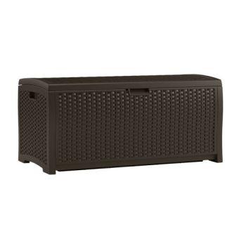 Suncast 73 Gallon Resin Wicker Deck Box