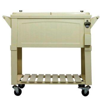 Permasteel 80-Quart Patio Cooler Furniture Style - Cream