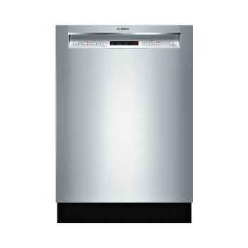 "Bosch 300 Series 24"" Recessed Handle Dishwasher - Stainless Steel"