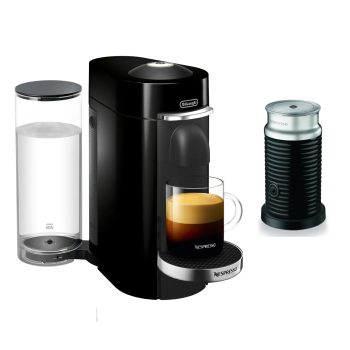 Nespresso Vertuo Plus Deluxe Coffee and Espresso Machine with Aeroccino  - Black