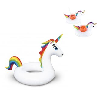 Incredible Novelties Giant Unicorn Pool Float with 2-Piece Unicorn Drink Holder