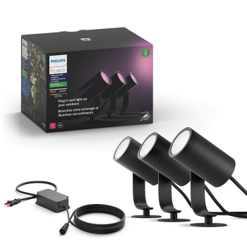 Philips Hue Lily Outdoor Spot Light- 3 Pack
