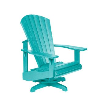 C.R. Plastic Generation Line Swivel Adirondack Chair - Turquoise