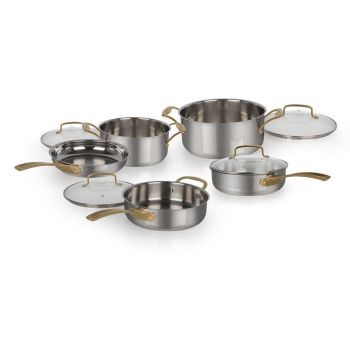 Cuisinart® 9-Piece MetalExpressions Stainless Steel Cookware Set