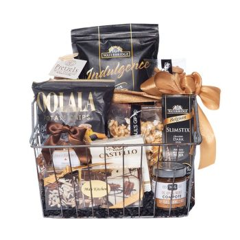 Peter & Paul's Gifts Black and Gold Gift Basket