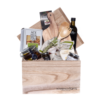 Peter & Paul's Gifts Olive Green Crate Gift Basket