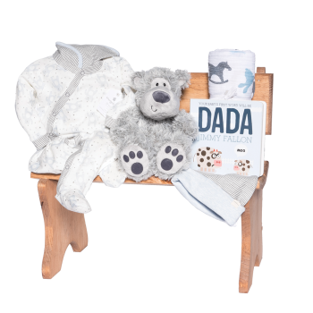 Peter & Paul's Gifts Baby Boy Wooden Bench Gift Set