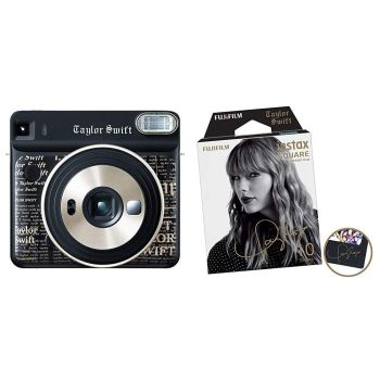 Fuji SQUARE SQ6 Taylor Swift Edition and Instax Square Film (10 Exposures) Bundle