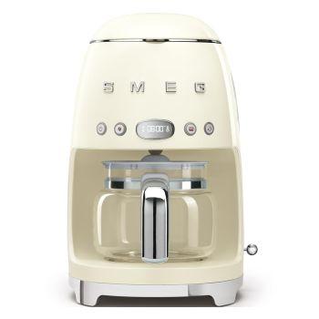 SMEG 50's Retro Style Aesthetic Drip Coffee Machine - Cream