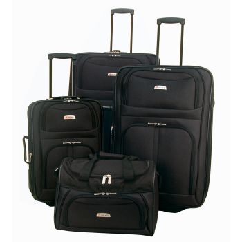 Delsey Destiny 4-Piece Nested Set - Black