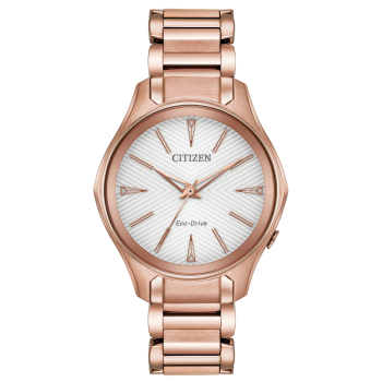 Citizen Ladies Eco-Drive Modena Rose Gold-Tone Stainless Steel Watch