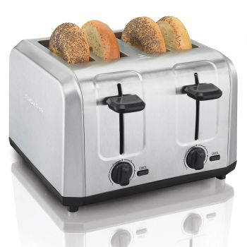 Hamilton Beach® 4-Slice Brushed Stainless Steel Toaster