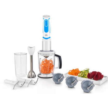 Braun Multiquick 5 Vario Fit Hand Blender - White/Blue