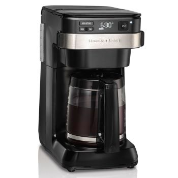 Hamilton Beach® 12-Cup Programmable Coffee Maker with Front-Fill Water Reservoir - Black