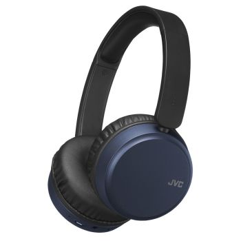 JVC HA-S65BN On-Ear Wireless Headphones with Noise Cancelling - Blue