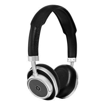 Master & Dynamic MW50+ 2-in-1 Wireless On Ear + Over-Ear Headphones - Silver Metal/Black Leather