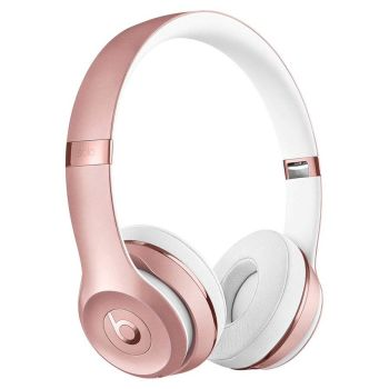 Beats Solo3 On-Ear Sound Isolating Bluetooth Headphones - Rose Gold