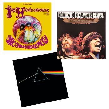 The Roots Of Rock Collection Vinyl Records Bundle - Chronicle: 20 Greatest Hits, The Dark Side Of The Moon & Are You Experienced
