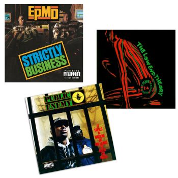 Early Hip-Hop Classics Collection Vinyl Records Bundle - It Takes A Nation Of Millions, Strictly Business & The Low End Theory