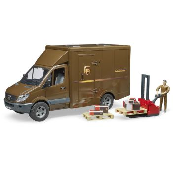 Bruder® MB Sprinter UPS Truck with Driver And Accessories