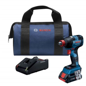 Bosch 18V Ec Brushless Freak 1/4 In. And 1/2 In. Two-In-One Bit/Socket Impact Driver Kit