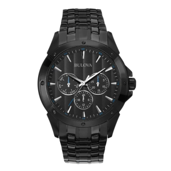 Bulova Men's Stainless Steel and Black Ion Quartz Classic Watch