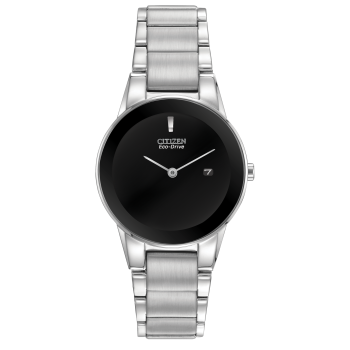 Citizen Axiom Ladies Eco-Drive Black Blank Face Date Watch
