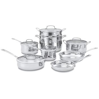 Cuisinart® 13-Piece Contour Stainless Cookware Set