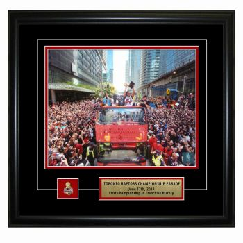 "Frameworth Toronto Raptors 8x10"" Championship Parade Photo with Official Championship Pin and Descriptive Metal Plate"