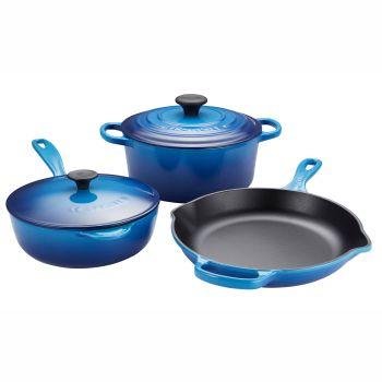 Le Creuset® 5-Piece Enamelled Cast Iron Set - Blueberry
