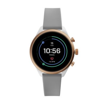 Fossil Sport 41mm Gray Silicone Smartwatch