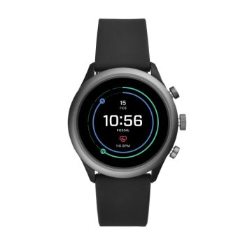 Fossil Sport 43mm Black Silicone Smartwatch