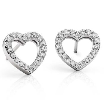 Karing Diamond Heart Stud Earrings