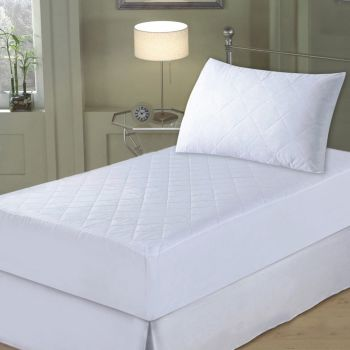 Luxeport PURE Certified Asthma and Allergy Friendly™ 2-Piece Silk Mattress Pad and Pillow Protector Set - Twin