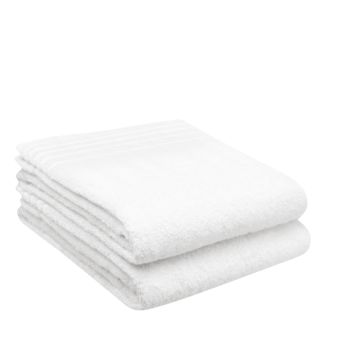 LuxeportSPA 2-Piece Bamboo Bath Sheet Set  - White