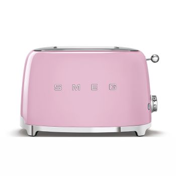 SMEG 50's Retro Style Aesthetic 2-Slice Toaster - Pink