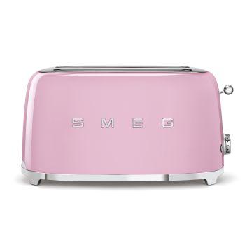 SMEG 50's Retro Style Aesthetic 4-Slice Toaster - Pink