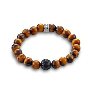 Thomas Sabo Rebel at Heart Tiger's Eye Brown Bracelet