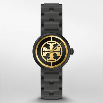 Tory Burch Women's Reva Black Stainless Steel Watch