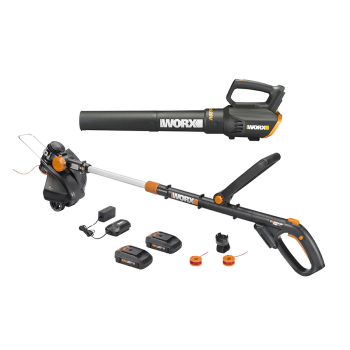 Worx 20V Power Share GT Revolution String Trimmer/Edger/Mini-Mower & Turbine Blower Combo Kit